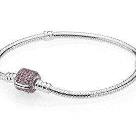 Pandora Pink Pave Moments Bracelet, Size 17