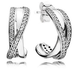 Pandora Entwined Hoops