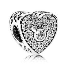 Pandora Mickey & Minnie Sparkling Heart Charm