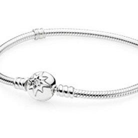 Pandora Starry Sky Clasp Bracelet, Size 20