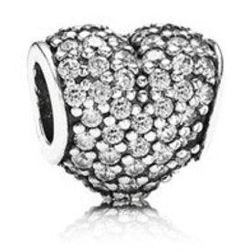 Pandora Pave Heart, Clear Charm