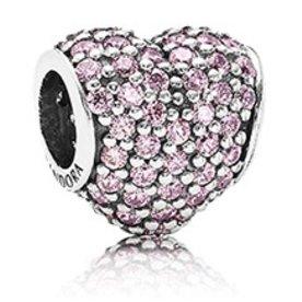 Pandora Pave Heart, Pink Charm