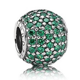 Pandora Pave Lights, Dark Green Charm