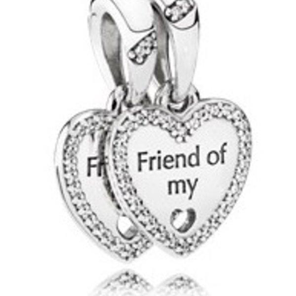 Pandora Hearts of Friendship Dangle Charm