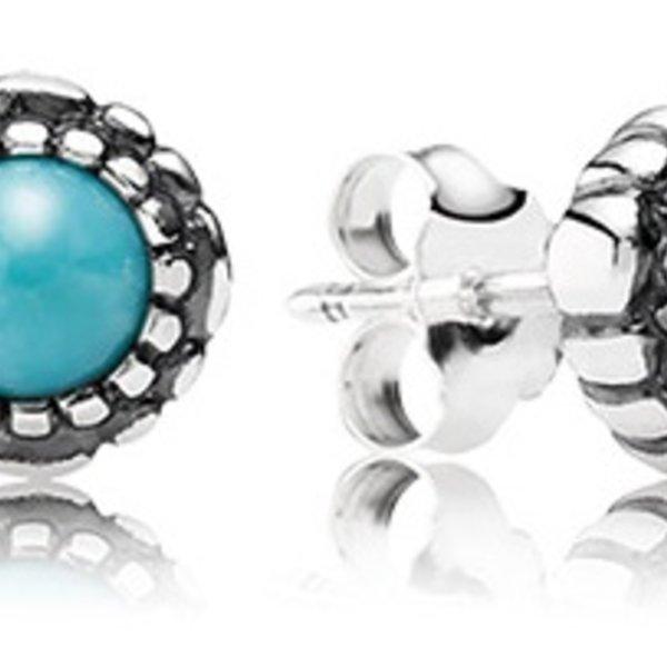 Pandora Birthday Blooms, December Stud Earrings