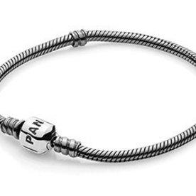 Pandora Oxidized Silver Bracelet, Size 17cm