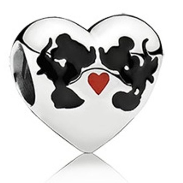 Pandora Minnie & Mickey Kiss Charm