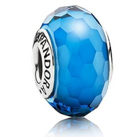Pandora Fascinating Aqua Murano Glass