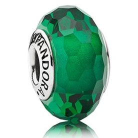 Pandora Fascinating Green Murano Glass