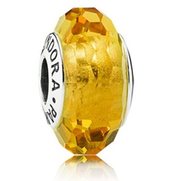 Pandora Fascinating Ochre Murano Glass