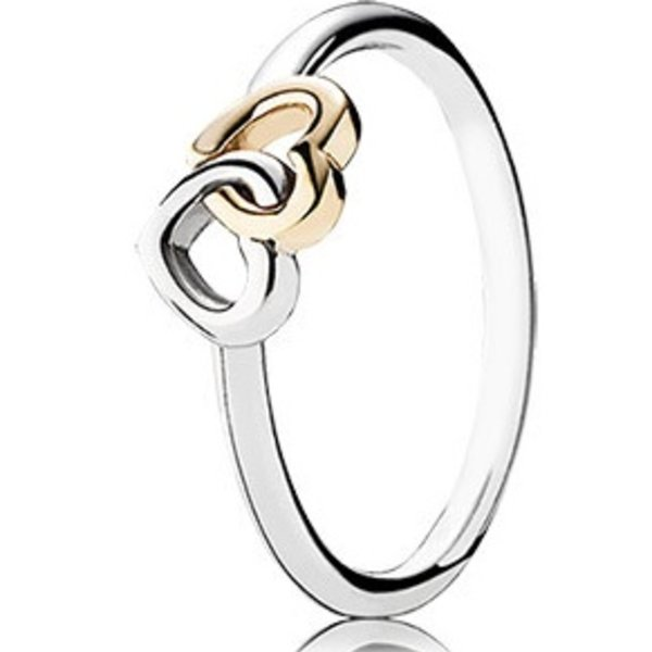 Pandora Heart to Heart Ring, Size 4.5