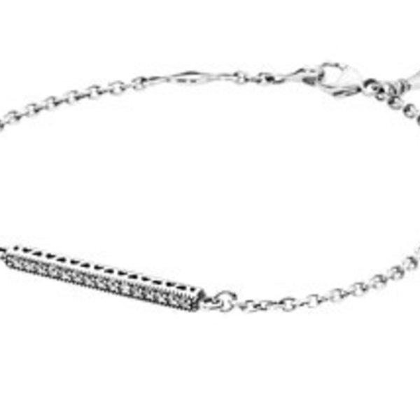 Pandora Bar Bracelet, 7.9in