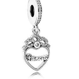 Pandora Princess Crown Heart Charm