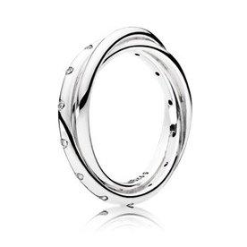 Pandora Swirling Symmetry Ring, Size 7