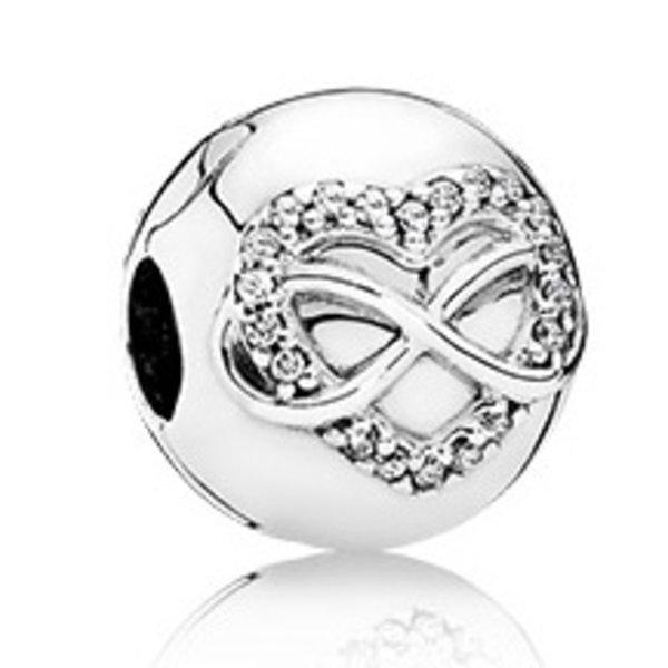 Pandora Infinity Heart Clip