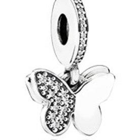 Pandora Fluttering Butterflies Charm