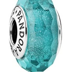 Pandora Teal Shimmer Murano Glass