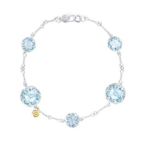 Tacori Multi Gem Chain Bracelet featuring Sky Blue Topaz