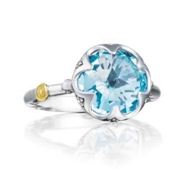Tacori Crescent Bezel Ring featuring Sky Blue Topaz