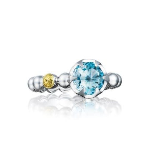Tacori Beaded Bezel Ring featuring Sky Blue Topaz