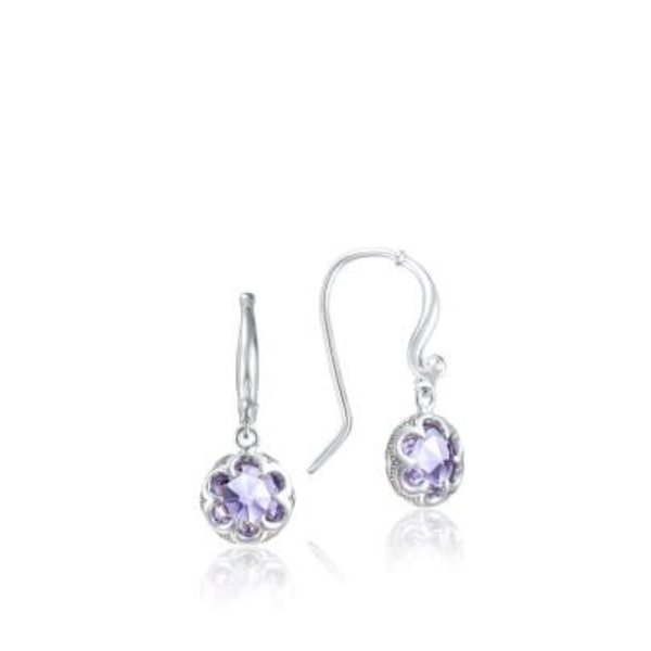 Tacori Petite Crescent Drop Earrings featuring Amethyst