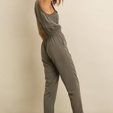 DRESS FORUM Sleeveless Utility Jumpsuit