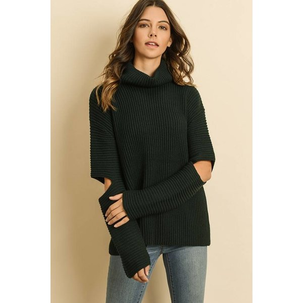 Cold Elbow Turtleneck Sweater