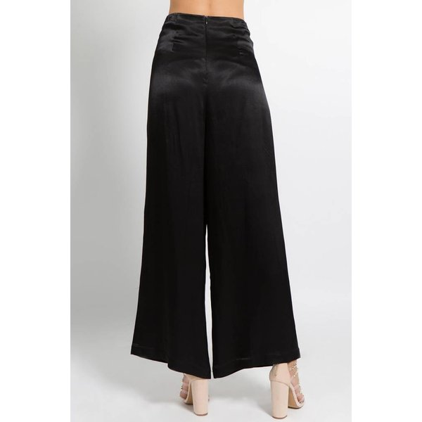 Satin Lace Up Pants