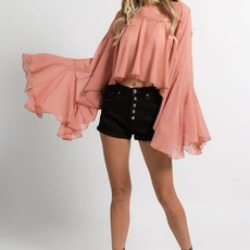 FANCO Flowy Cropped Blouse