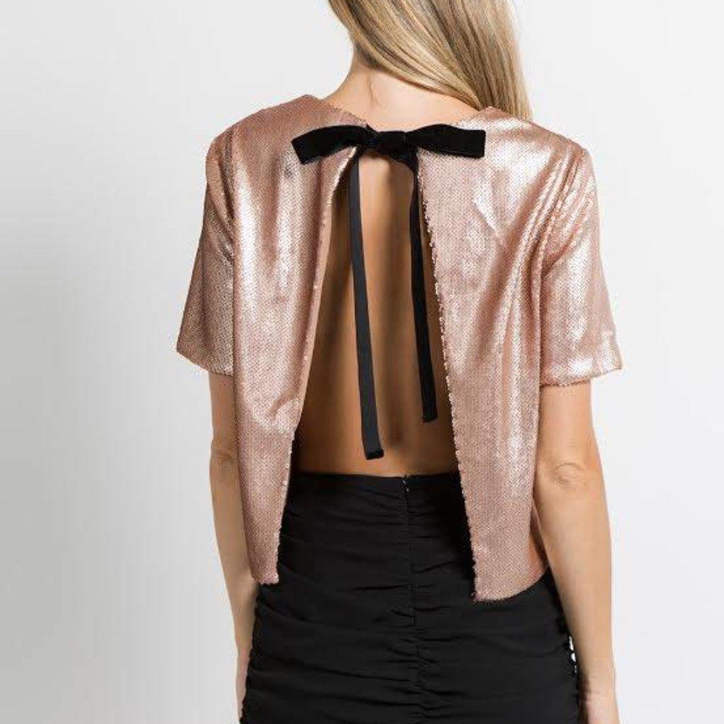 FANCO Rose Gold Sequin Top