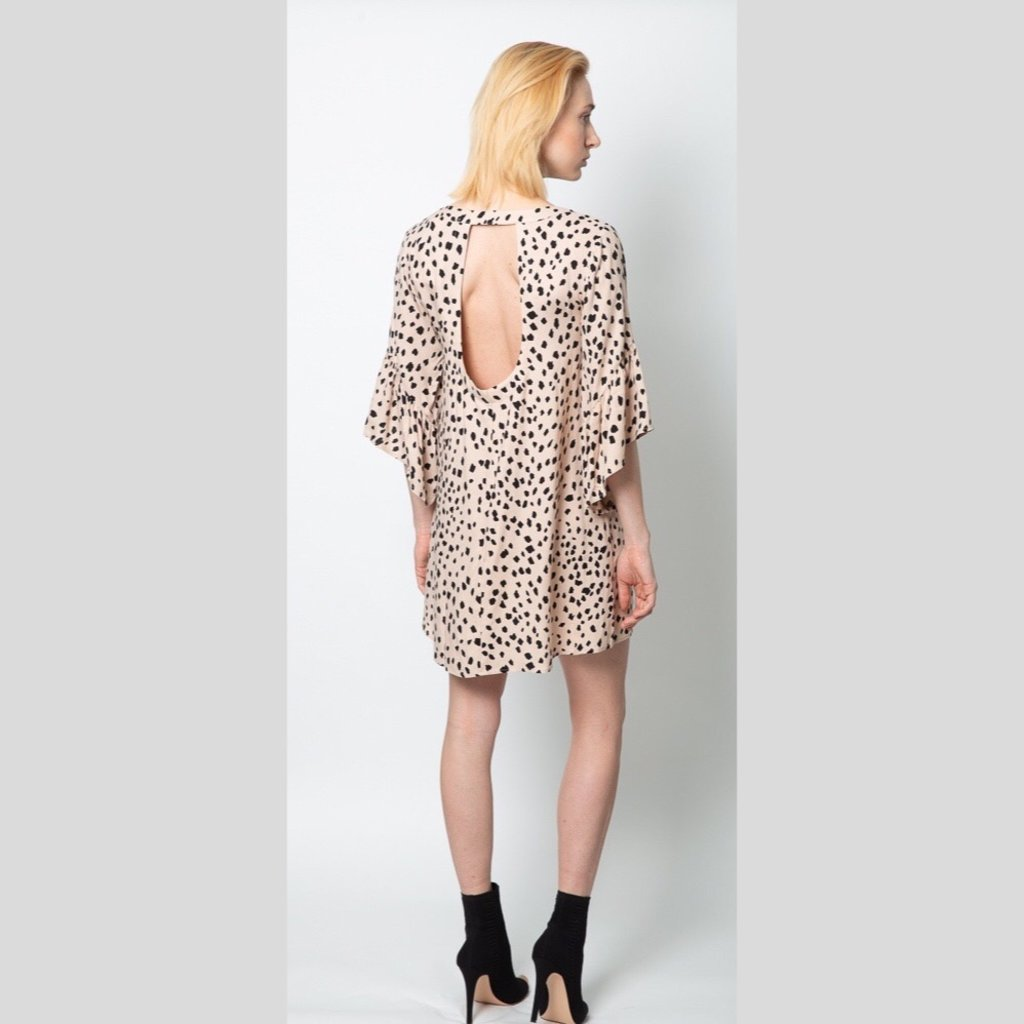 SALTWATER LUXE Open Back Kimono Dress