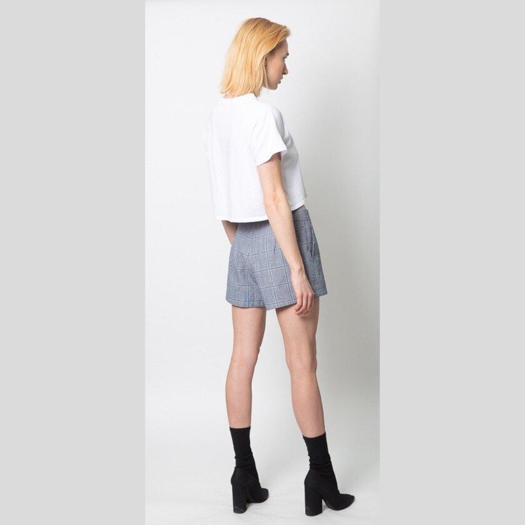CUPCAKES AND CASHMERE Vinson Plaid Shorts