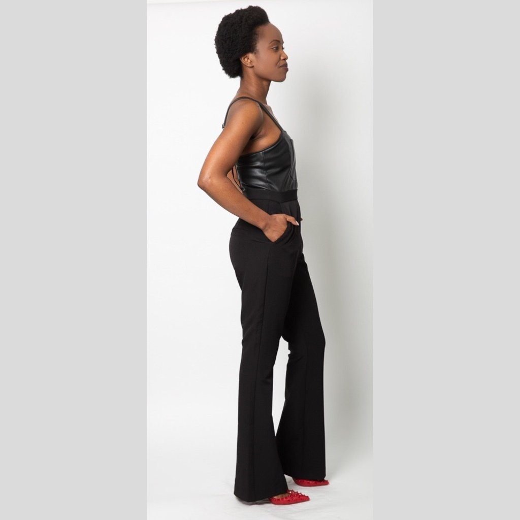 Fletch Faux Leather Jumpsuit