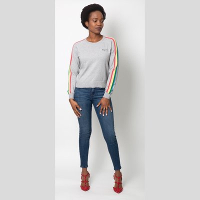 CUPCAKES AND CASHMERE Portland Rainbow Sweater
