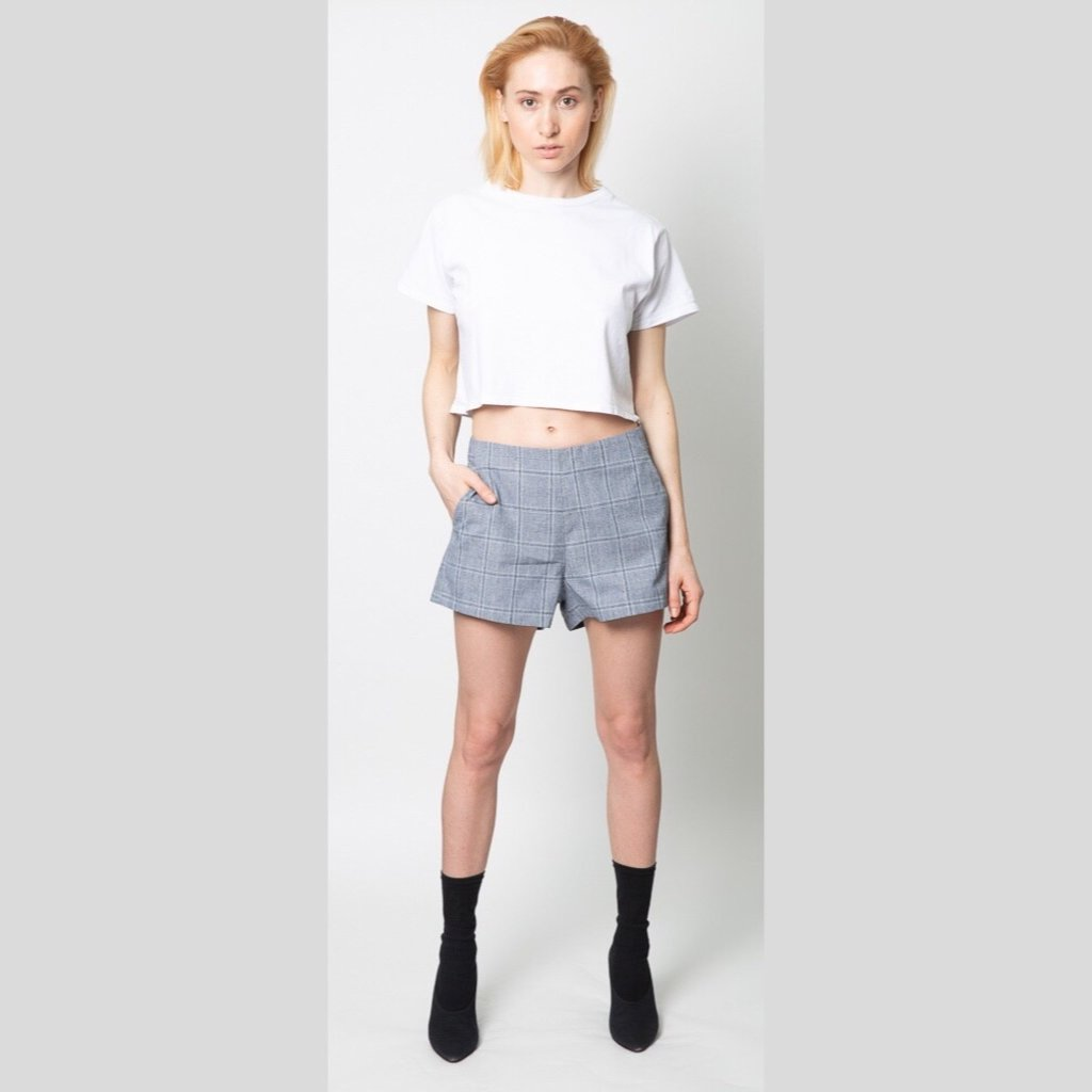 JOAH BROWN Optic White Queen Crop Tee