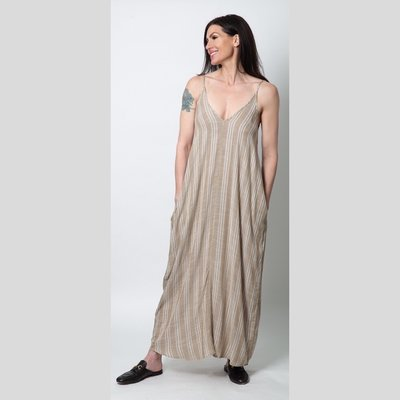 ELAN Maxi Khaki/Natural Stripe