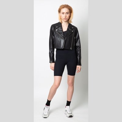 MINKPINK Nightrider Cropped Biker Jacket