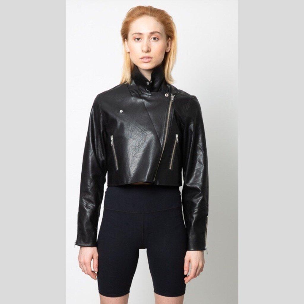 MINKPINK Nightrider Cropped Biker Jacket