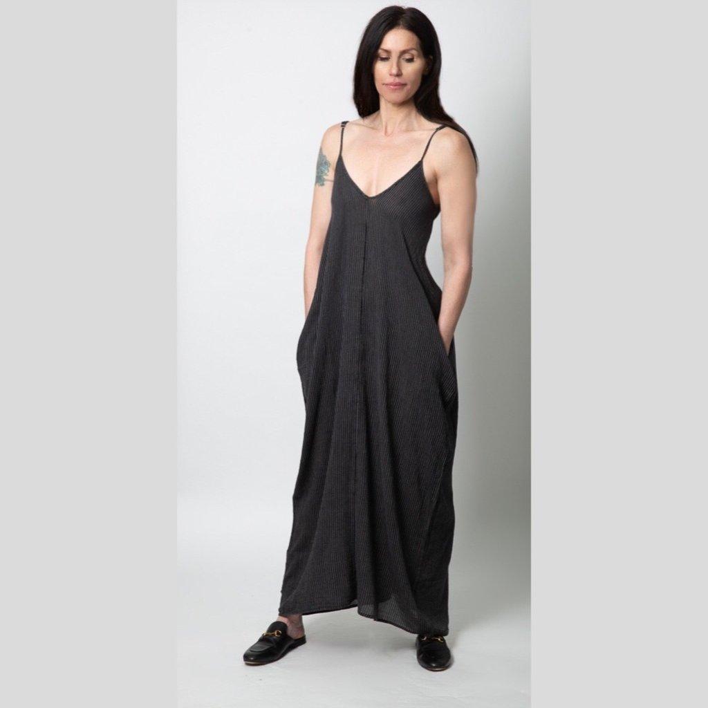 ELAN Maxi Black/Natural Stripe