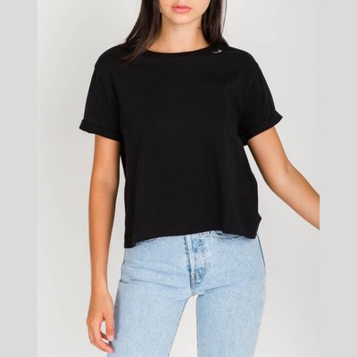 BRUNETTE Blonde Cropped Tee
