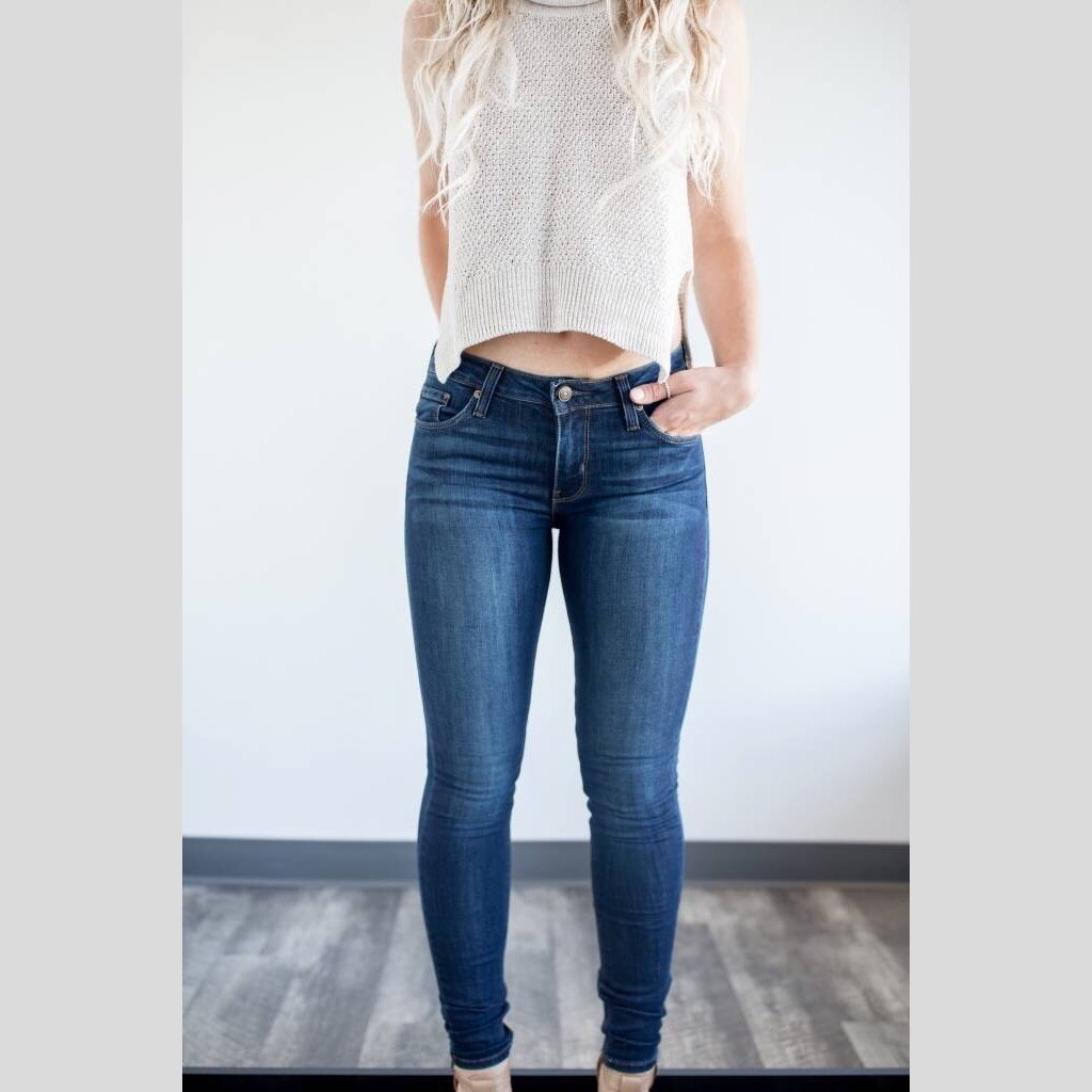"JUST BLACK DENIM 9"" Rise Skinny Jean - Dark Denim"