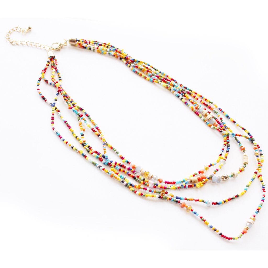 Layered Rainbow Necklace