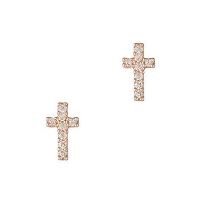 Theia Petite Cross Studs