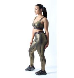 MONO B Gold Dust Highwaist Varsity Leggings