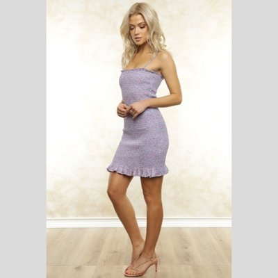 Fletch Mia Smocking Mini Dress