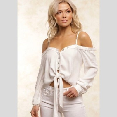 Fletch Hayley Off-Shoulder Shirt