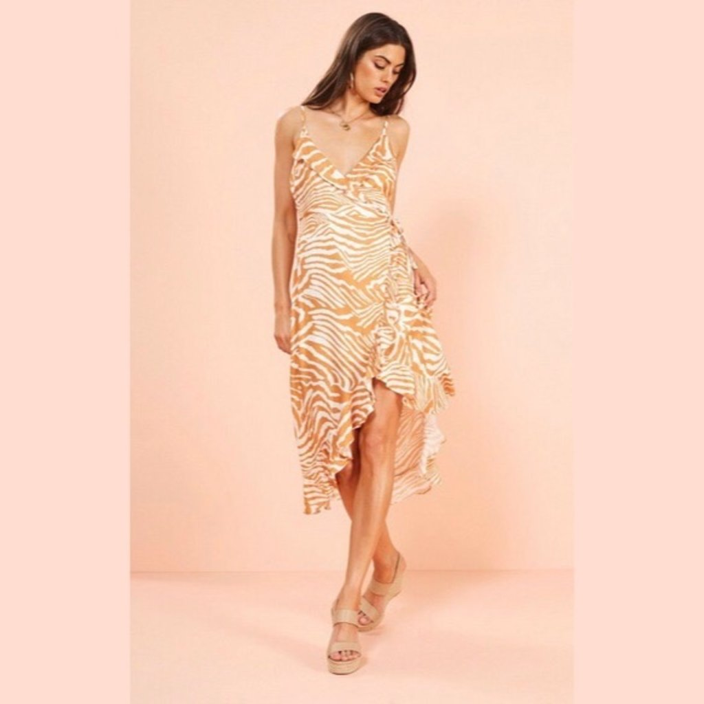 d1e8c5db8663e5 Pretty Wild Wrap Midi Dress - Aura Boutique