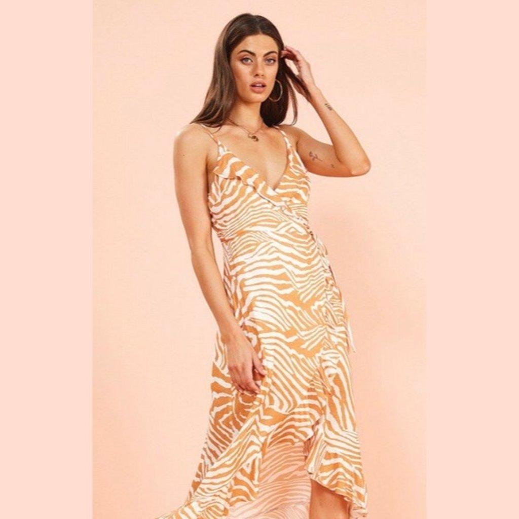 MINKPINK Pretty Wild Wrap Midi Dress