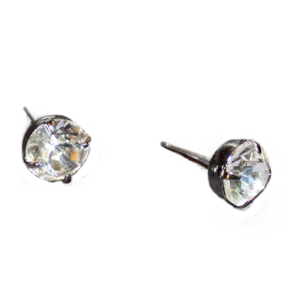 Circle Diamond Studs