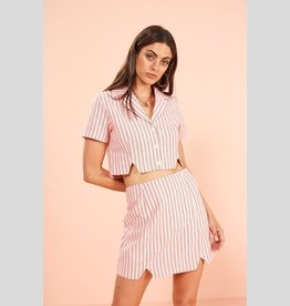 MINKPINK Check Mini Skirt